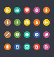 Glyphs Colored Icons 25 vector image