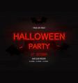 halloween party light banner modern neon vector image
