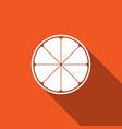 orange in a cut citrus fruit healthy lifestyle vector image