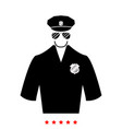 police icon flat style vector image