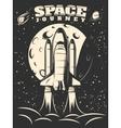 Space Journey Monochrome Print vector image