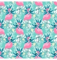 Tropical flamingo seamless vector image