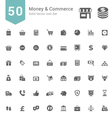 Money and Commerce Solid Icon Set vector image vector image