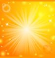 Abstract magic light orange background vector image