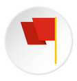 red flag icon circle vector image