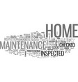 why care about home maintenance text word cloud vector image