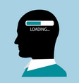 head and thought process vector image