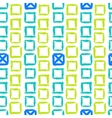 Geometric pattern with small hand painted squares vector image