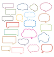 Colored Line Speech Bubbles vector image vector image