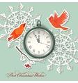 Scrapbook element Christmas background vector image