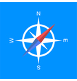 Simple compass icon vector image