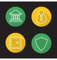 Online banking flat linear icons set vector image