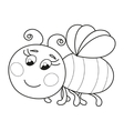 Cute funny ruddy bee flying coloring book page vector image