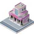 Isometric nightclub building vector image