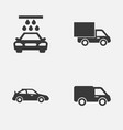 auto icons set collection of truck lorry vector image