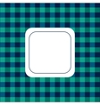 Background checkered green and blue vector image