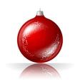 beautiful red christmas ball vector image