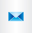 blue letter envelope mail symbol vector image