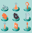 chemical color isometric icons vector image