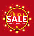 diwali sale and offers banner poster template vector image