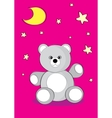 Good night bear vector image