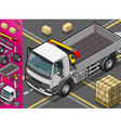 isometric container truck vector image