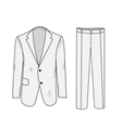 Suit Business sketch office suit vector image