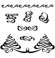 calligraphy ornament set 3 vector image vector image