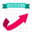 Success Arrow on Graph and Retro Ribbon vector image