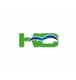 Elegant alphabet K and C letter logo vector image