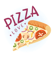 Pizza love vector image vector image