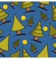 Christmas seamless theme vector image vector image