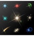 lights stars and sparkles vector image vector image
