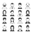 silhouette users vector image