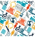Seamless pattern with journalism icons vector image
