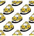 Cartoon taxi character seamless pattern vector image vector image