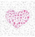 Love shopping seamless background vector image