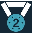 Second medal icon from Competition  Success vector image