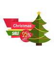 christmas best sale label abstract new year tree vector image