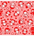 Cupids wrapping paper vector image
