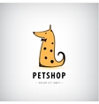dog logo pet shop icon veterinary vector image