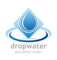 drop water pure shapes symbol design icon vector image