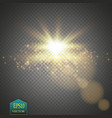 elegant transparent flash shining sun and cloud vector image