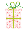 gift wrapped box vector image