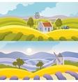 Rural Landscape Banner vector image