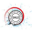 Sale stamp design vector image