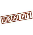 Mexico City brown square stamp vector image