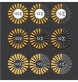 orange preloaders and progress loading bars vector image