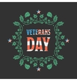 Veteran day badge vector image