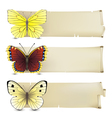 retro butterfly banners2 vector image
